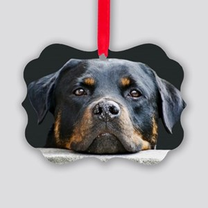 Rottweiler Picture Ornament
