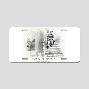 Angel footsteps - 1878 Aluminum License Plate