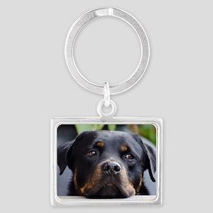 Rottweiler Dog Landscape Keychain