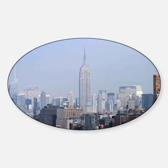 Empire State New York City-Pro Phot Sticker (Oval)