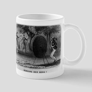 Bending her beau - 1880 11 oz Ceramic Mug