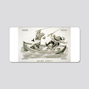 Biting lively - 1882 Aluminum License Plate