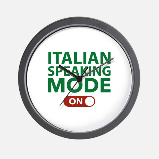 Italian Speaking Mode On Wall Clock