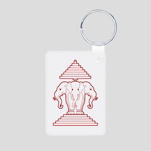 Three Headed Elephant Keychains