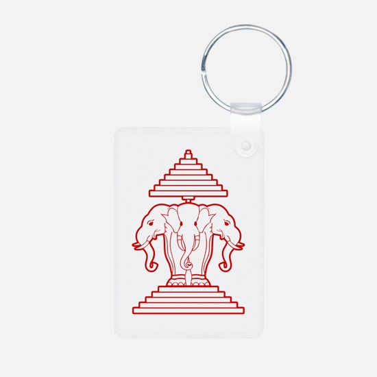 Three Headed Elephant Keychains
