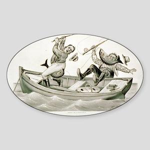 Biting lively - 1882 Sticker (Oval)