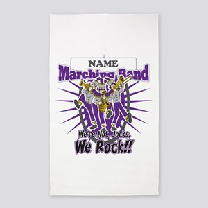 Marching Band Rocks(Purple) 3'x5' Area Rug