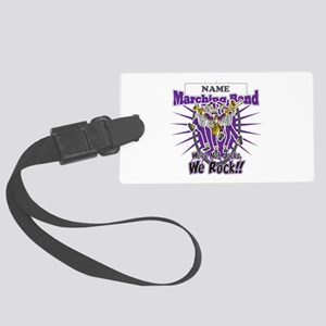 Marching Band Rocks(Purple) Large Luggage Tag