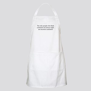 The Customer Is Always Right BBQ Apron