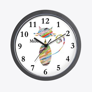 Cat - Meow Wall Clock