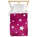 Pink and White Stars Twin Duvet