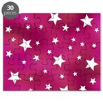 Pink and White Stars Puzzle