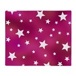 Pink and White Stars Throw Blanket