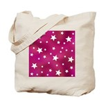 Pink and White Stars Tote Bag