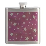 Pink and White Stars Flask