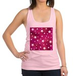 Pink and White Stars Racerback Tank Top