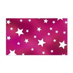Pink and White Stars Wall Sticker