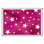 Pink and White Stars Banner