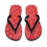 Red Stars Flip Flops