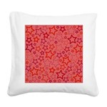 Red Stars Square Canvas Pillow