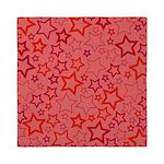 Red Stars Queen Duvet