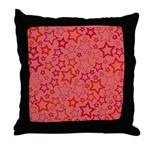 Red Stars Throw Pillow