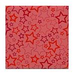 Red Stars Tile Coaster