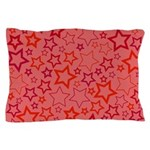 Red Stars Pillow Case