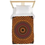 Golden Rainbow Mandala Pattern Twin Duvet