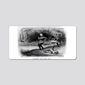 Caught on the fly - 1879 Aluminum License Plate
