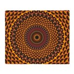Golden Rainbow Mandala Pattern Throw Blanket