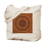 Golden Rainbow Mandala Pattern Tote Bag