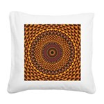Golden Rainbow Mandala Pattern Square Canvas Pillo