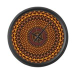 Golden Rainbow Mandala Pattern Large Wall Clock