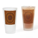 Golden Rainbow Mandala Pattern Drinking Glass