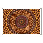 Golden Rainbow Mandala Pattern Banner