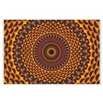 Golden Rainbow Mandala Pattern Poster Art