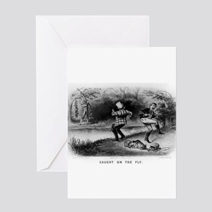 Caught on the fly - 1879 Greeting Card