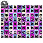 Pastel Rainbow Cat Pattern Puzzle