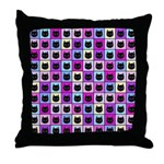 Pastel Rainbow Cat Pattern Throw Pillow