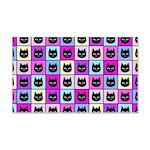 Pastel Rainbow Cat Pattern Wall Sticker