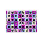 Pastel Rainbow Cat Pattern 5'x7'Area Rug
