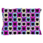 Pastel Rainbow Cat Pattern Pillow Case