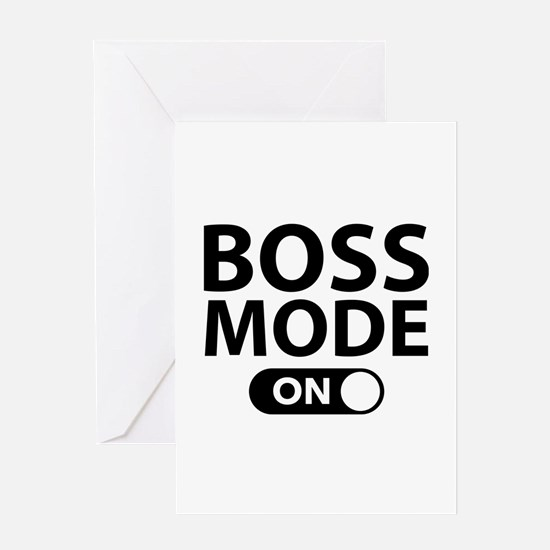 Boss Mode On Greeting Card