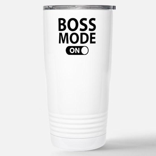 Boss Mode On Stainless Steel Travel Mug