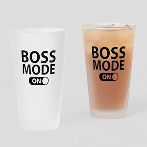 Boss Mode On Drinking Glass