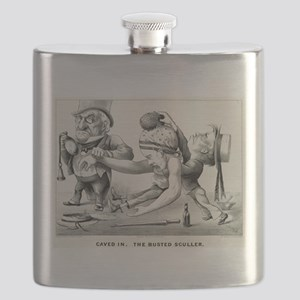 Caved in - The busted sculler - 1876 Flask