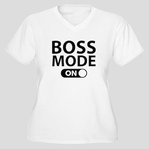 Boss Mode On Women's Plus Size V-Neck T-Shirt