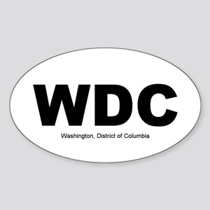 Washington DC Oval Sticker