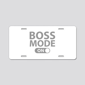 Boss Mode On Aluminum License Plate